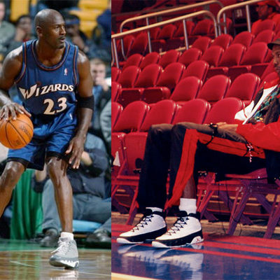 Lost One  Due to his retirement, the Air Jordan IX was never worn by MJ on-court as a member of the Chicago Bulls. He did, however, wear them with the Wizards.