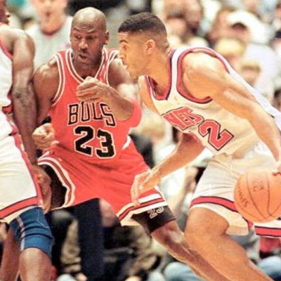 Jokes On You  Jim Jackson (NJ Nets) scored 33 on MJ during the 1996-97 season while wearing Air Jordans. He trash-talked Michael so bad that MJ just had to point out that the only reason Jim was playing so well is because he was actually wearing Jordans during the game.
