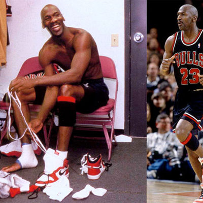 Signing Off In Style  In what he thought would be his final game against the Knicks at MSG, MJ wore a pair of Jordan Is and proceeded to stuff the box score with 47 points, 8 rebounds, 6 assists and 3 steals, effectively signing the deed to Madison Square Garden and making it his own personal basketball Terrordome.